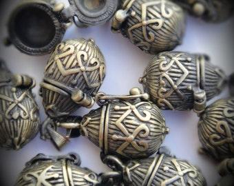 Tear Drop Design Prayer Box Locket in Brass Three Dimensional Pendant Charm