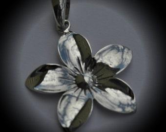 Genuine Sterling Silver Flower Pendant