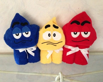 Silly Faces Hooded Towel