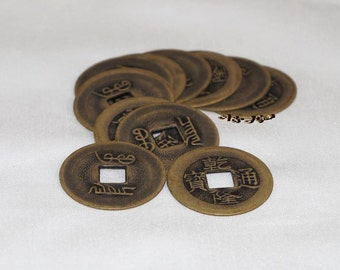 Ancient Chinese Coin, Ching Dynasty, 25mm - 2 PCS