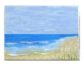 A Perfect Day acrylic beachscape signed by artist