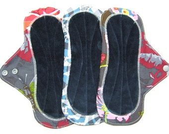 "9"" OBV or Minky Reusable Mama Cloth Pads / Menstrual Pads /  Incontinence Pads - Set of 3 - Customize Your Set"