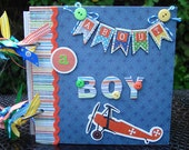 Scrapbook Album,   Boy Mini Album, Handmade Mini Album,  Srapbook Mini album,  Mini Album, Birthday Gift