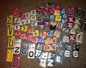 Iron on letters DESTASH appliques