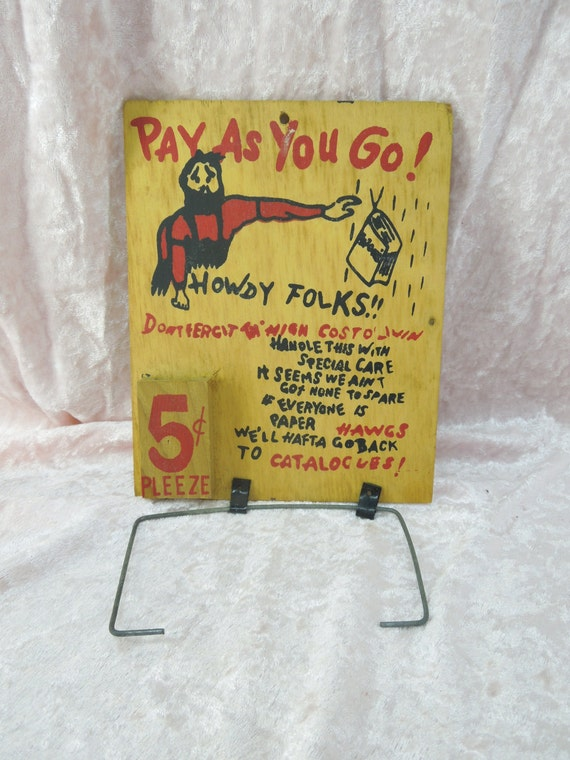 Vintage toilet paper holder funny saying hillbilly country Funny toilet paper holders