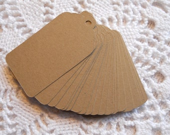 Wedding Wish Tree Tag Kraft Tags Price Tags Brown Paper Favor Label with Scalloped Edges 3.5 Inch - set of 25