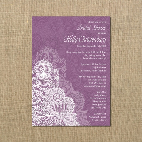 Bridal Shower Invitation Drop In Come And Go Digital