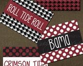 University of Alabama Folded Notecards