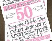 Letterpress Style Birthday Invitation
