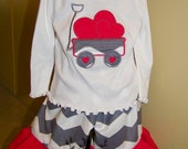 Chevron Heart Valentine's Day Outfit