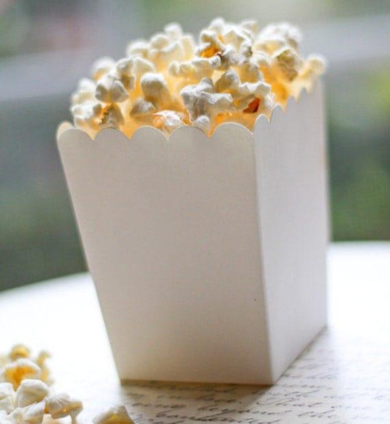 Plain Popcorn Boxes White Popcorn Boxes