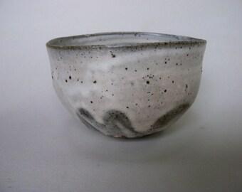 White slip bowl 3117, white slip, wood fired