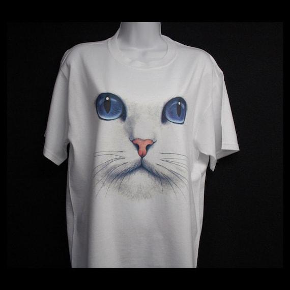 Cat Face t Shirts Cat Face Print on t Shirt