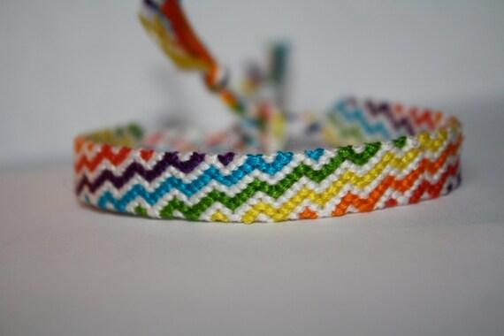 friendship bracelet rainbow zig zag