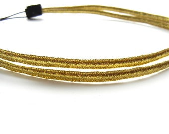 Double Strand Gold Headband