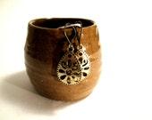 Bronze Oval Drop EArrings, Dangle Earrings