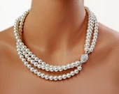 Bridal Necklace Pearl Necklace Wedding Necklace