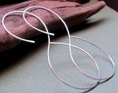 Infinity Hoop Earrings - Sterling Silver Figure-8 shaped Hoops - Infinity  Earrings - Unique Hoops - Modern Earrings - Eternity Earrings
