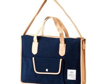 Basic Pocket Messenger & Tote bag (Navy)