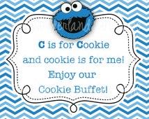 Sesame Street Cookie Monster Sign