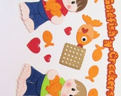 Custom Order for Karen:  Goldfish n Crackers  Premade Scrapbook Paper Piecings