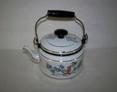 Enamel Ware Kettle Dela-Ware Tea Kettle Metal Tea Kettle