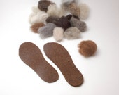 Organic wool felt insoles, wool boot liners