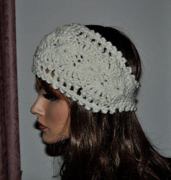 Crochet Ear Warmer Headband 100 Percent Handmade By Cobanul