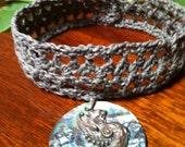 Crochet Lacy Choker, PDF pattern, Easy for Beginners.