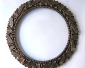 Only Now 15% Off Frame for a round mirror or a tapestry, wood carving,   MADE TO ORDER
