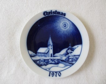 1970 Christmas Plate by P T Tirschenreuth Limited Edition