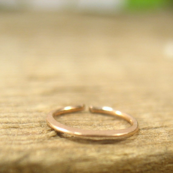 nose rings solid 14k pink gold hammered solid gold nose