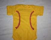 Adorable Softball Baby Outfit