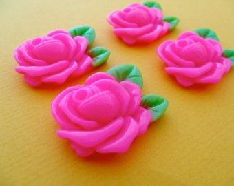 Half price sale! 10 x vintage style rose cabochon