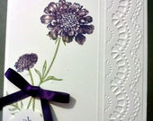 Handmade, 3-Dimensional, Stamped and Embossed Valentine's Day Card