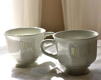Two White Teacups