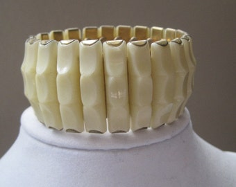 Vintage Jewelry Bracelet Expansion Bracelet Cream 1950's Mid Century Classic Timeless New Lower Price