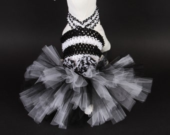 Chic Zebra DOG TUTU Dress