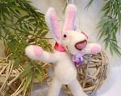 Bunny, Needle Felted Bunny, Handmade bunny, Easter bunny, Rabbit, Miniatures, Soft Sculpture