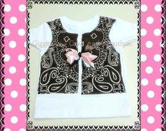 Cowgirl Bandana Vest for all the Little Cowgirls - All Colors - 6 to 24 months Sizes 2 to 6