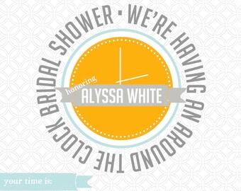 Around the Clock Wedding Shower Invitation - Download - Customizable