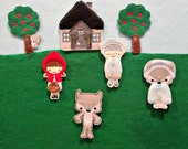 Lil Red ITH Story Board Pieces Instant Download
