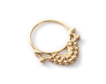 Gold septum jewelry 14k yellow gold - Septum ring - nose ring - tragus - Nose jewelry - tragus