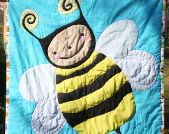 Baby Quilt - Buzzy Bee (Made to Order)