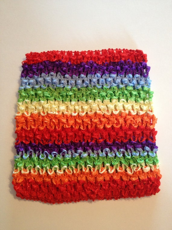 "Rainbow 6.5"" Crochet Tube Top for Tutu Dresses"
