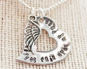 "Personalized ""Rainbow Bridge"" memorial necklace"