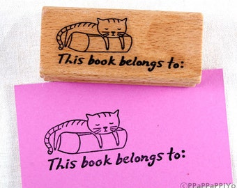 30% OFF SALE This book belongs to 01 Rubber Stamp