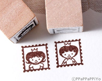 Prince & Princess stamp Rubber Stamp set