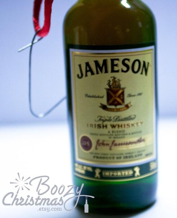 Jameson Christmas Ornament-- Jameson Irish Whiskey Themed Christmas Tree Ornament.