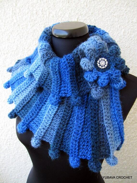 CROCHET SCARF PATTERN, Multicolor Scarf Fantasy, Chunky Scarf Pattern, Diy Crafts, Instant Download Lyubava Crochet Pdf Pattern No.90